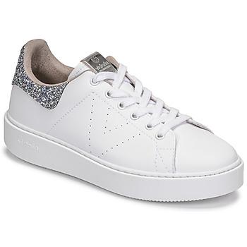 Sko Dame Lave sneakers Victoria UTOPIA GLITTER Hvid / Sølv