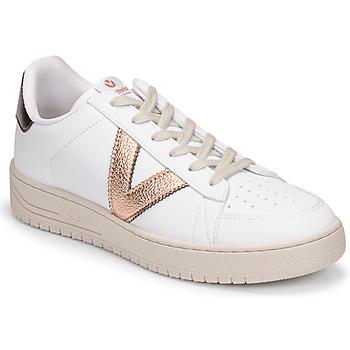 Sko Dame Lave sneakers Victoria SIEMPRE BASKET VEGANA METALIZADO Hvid