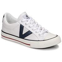 Sko Lave sneakers Victoria TRIBU LONA CONTRASTE Hvid / Blå