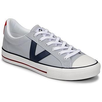 Sko Herre Lave sneakers Victoria TRIBU LONA CONTRASTE Grå