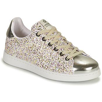 Sko Pige Lave sneakers Victoria TENIS GLITTER Sølv