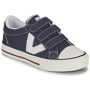 Sko Dreng Lave sneakers Victoria TRIBU TIRAS LONA Blå