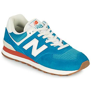 Sko Herre Lave sneakers New Balance 574 Blå / Hvid