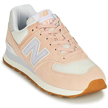 Sko Dame Lave sneakers New Balance 574 Pink / Blå