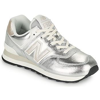 Sko Dame Lave sneakers New Balance 574 Sølv