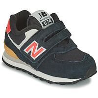Sko Dreng Lave sneakers New Balance 574 Sort / Orange