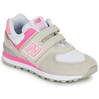 Sko Pige Lave sneakers New Balance 574 Grå / Pink