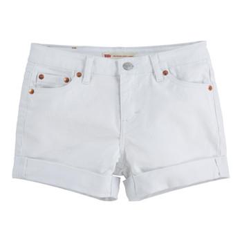 textil Pige Shorts Levi's 4E4536-001 Hvid