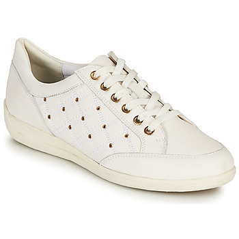 Sko Dame Lave sneakers Geox D MYRIA H Hvid / Guld
