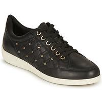 Sko Dame Lave sneakers Geox D MYRIA H Sort