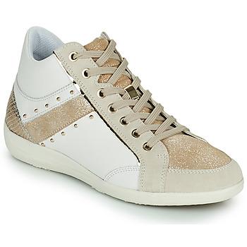 Sko Dame Høje sneakers Geox D MYRIA G Hvid / Beige