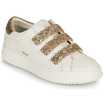 Sko Dame Lave sneakers Geox D PONTOISE C Hvid / Guld