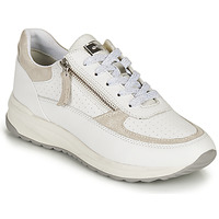 Sko Dame Lave sneakers Geox D AIRELL A Hvid / Beige