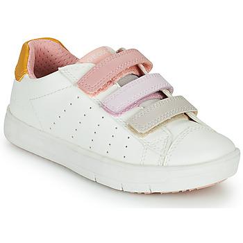 Sko Pige Lave sneakers Geox SILENEX GIRL Hvid / Pink / Beige