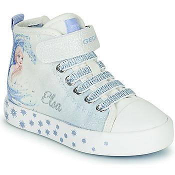 Sko Pige Høje sneakers Geox JR CIAK GIRL Hvid / Blå