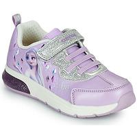 Sko Pige Lave sneakers Geox SPACECLUB GIRL Violet