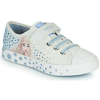 Sko Pige Lave sneakers Geox JR CIAK GIRL Hvid / Blå