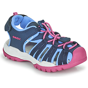 Sko Pige Sportssandaler Geox BOREALIS GIRL Blå / Pink