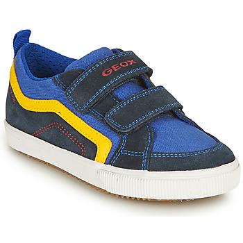 Sko Dreng Lave sneakers Geox ALONISSO BOY Marineblå / Gul