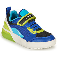 Sko Dreng Lave sneakers Geox GRAYJAY BOY Blå / Lime