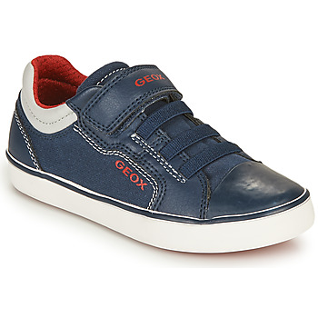 Sko Dreng Lave sneakers Geox GISLI BOY Marineblå / Rød