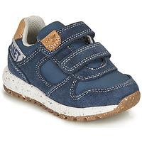 Sko Dreng Lave sneakers Geox ALBEN BOY Blå / Brun