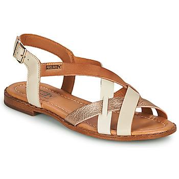 Sko Dame Sandaler Pikolinos ALGAR W0X Hvid / Pink / Guld