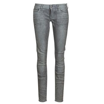 textil Dame Jeans - skinny G-Star Raw 3301 Low Skinny Wmn Mørk / Ældet / Cobler