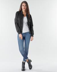 textil Dame Jeans - skinny G-Star Raw 3301 Ultra High Super Skinny Wmn Mørk / Ældet