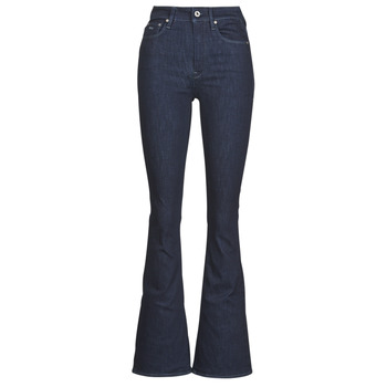 textil Dame Bootcut jeans G-Star Raw 3301 High Flare Wmn Rinsed