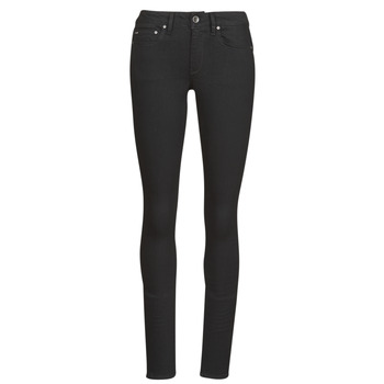 textil Dame Jeans - skinny G-Star Raw Midge Zip Mid Skinny Wmn Pitch / Sort
