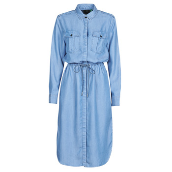 textil Dame Lange kjoler G-Star Raw Rovic maxi shirt dress ls Lys / Ældet
