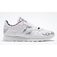 Sko Høje sneakers Reebok Classic Reebok Classic Leather ?Peace Train? White/Black-White