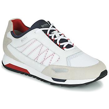 Sko Herre Lave sneakers BOSS Parkour_runn_net2 10214599 Hvid