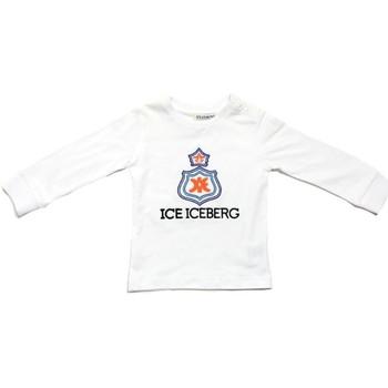 textil Dreng Langærmede T-shirts Iceberg TSICE0316B Bianco