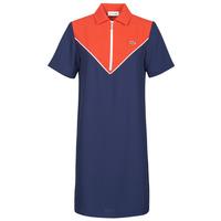 textil Dame Korte kjoler Lacoste FRITTI Rød / Blå