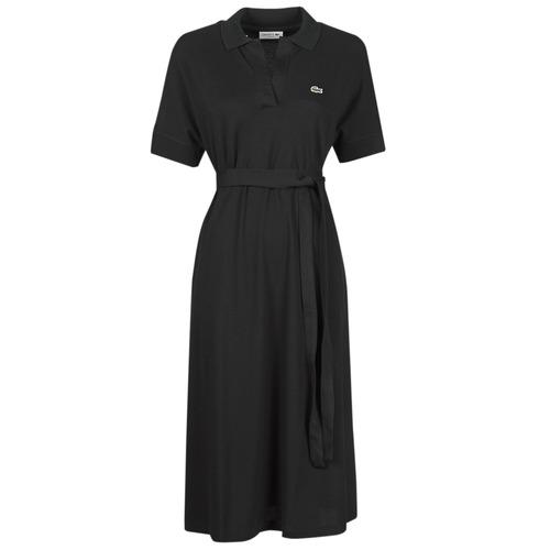 textil Dame Lange kjoler Lacoste KONNI Sort