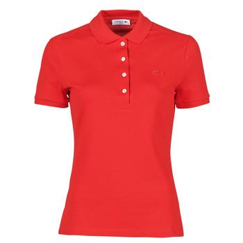 textil Dame Polo-t-shirts m. korte ærmer Lacoste POLO SLIM FIT Rød