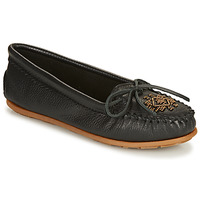 Sko Dame Mokkasiner Minnetonka DEERSKIN BEADED MOC Sort