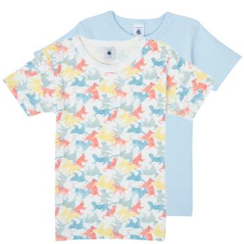 textil Dreng T-shirts m. korte ærmer Petit Bateau MANUR Flerfarvet