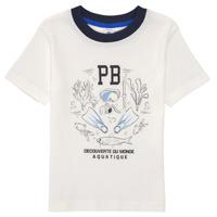 textil Dreng T-shirts m. korte ærmer Petit Bateau MARCO Hvid