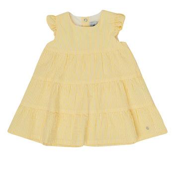 textil Pige Korte kjoler Petit Bateau MERINGUE Gul