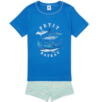 textil Dreng Pyjamas / Natskjorte Petit Bateau MAYONNAISE Flerfarvet