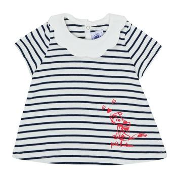 textil Pige T-shirts m. korte ærmer Petit Bateau MELIANE Flerfarvet