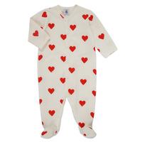 textil Pige Pyjamas / Natskjorte Petit Bateau MESCOEURS Hvid