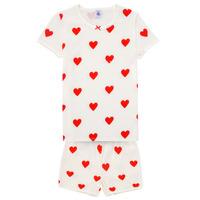 textil Pige Pyjamas / Natskjorte Petit Bateau MICOURT Flerfarvet