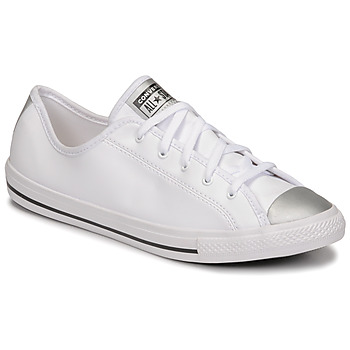 Sko Dame Lave sneakers Converse CHUCK TAYLOR ALL STAR DAINTY ANODIZED METALS OX Hvid