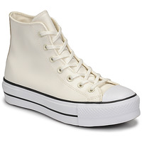 Sko Dame Høje sneakers Converse CHUCK TAYLOR ALL STAR LIFT ANODIZED METALS HI Hvid / Beige