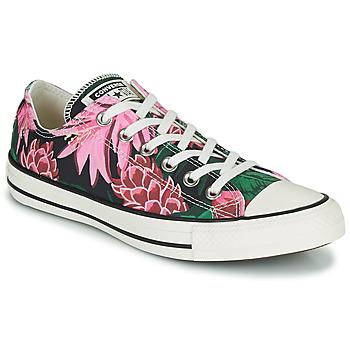 Sko Dame Lave sneakers Converse CHUCK TAYLOR ALL STAR JUNGLE SCENE OX Pink / Grøn