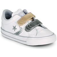 Sko Pige Lave sneakers Converse STAR PLAYER 2V METALLIC LEATHER OX Hvid